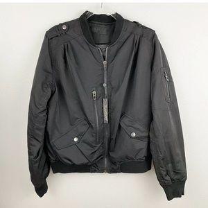 Blank NYC • Black Nylon Bomber Jacket
